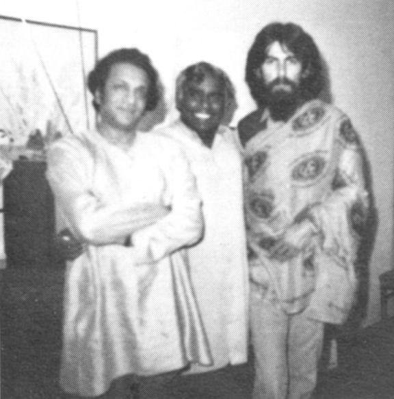 Ravi Shankar, Vishnudevananda, and George Harrison