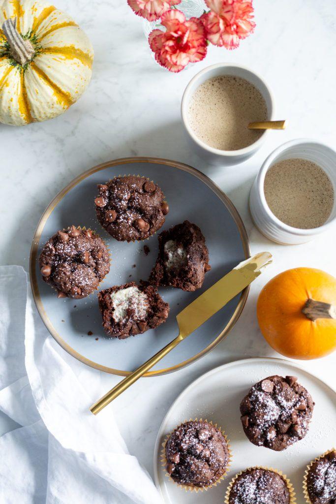 One Bowl Pumpkin Chocolate Muffins Receta Con Imagenes Postres Saludables Comida Sana Comida