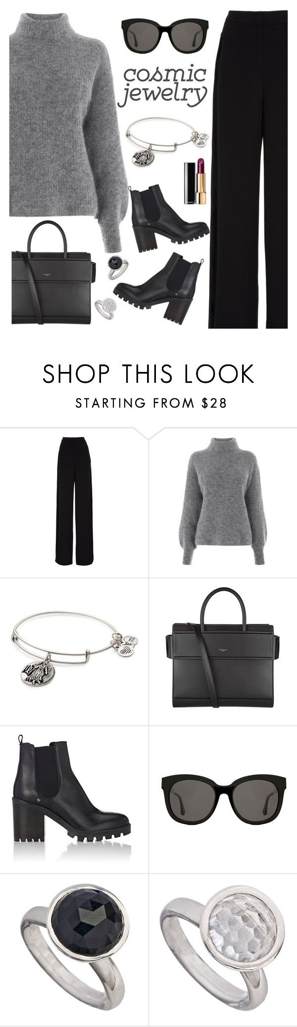 """Cosmic Jewelry"" by rasa-j ❤ liked on Polyvore featuring Rochas, Warehouse, Alex and Ani, Givenchy, Barneys New York, Gentle Monster, Chanel, womensFashion and cosmicjewelry"