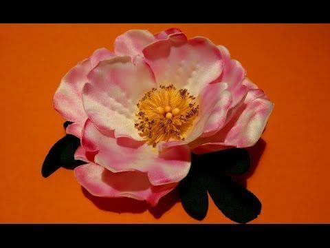 Fabric flowers how to make/rosehip made of fabrics/tutorial/Цветы из тка...