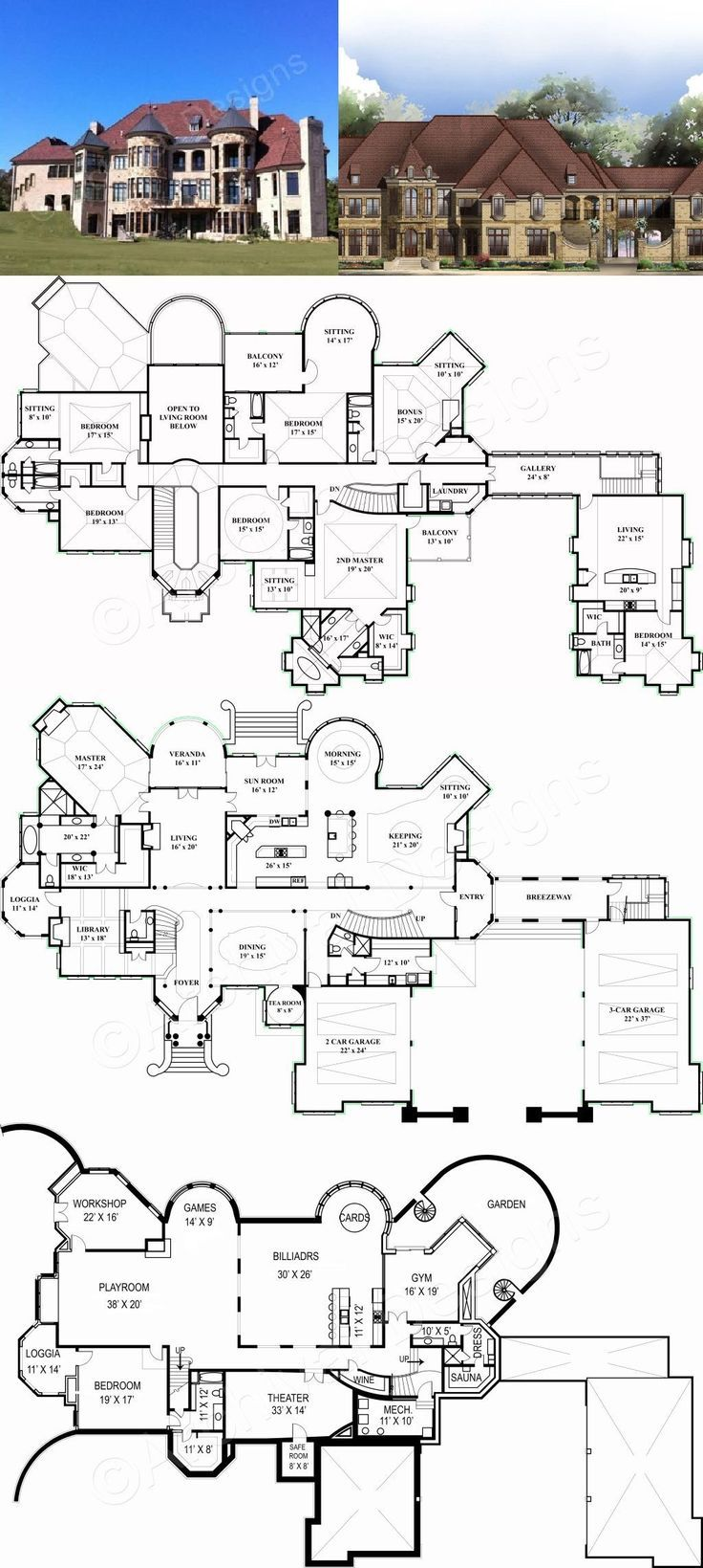 Chateaubriand European House Plan Luxury House Plan Mansion Floor Plan Luxury House Plans European House