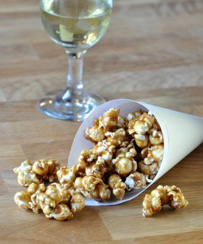 Delicious Caramel Popcorn. I have made this a million times and love it even more each time!