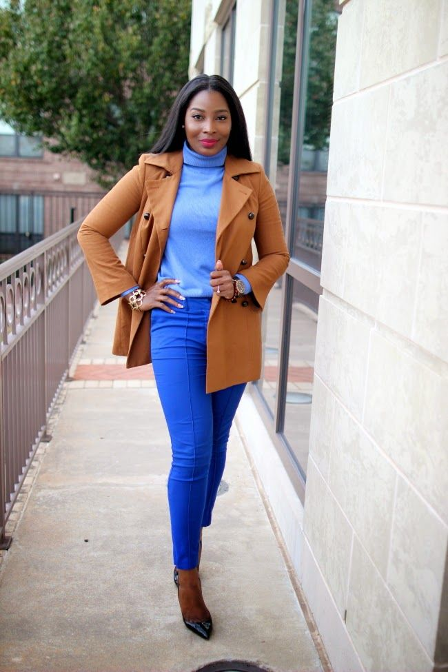 Irony of Ashi: Powder and Cobalt Blue Tones #streetstyle