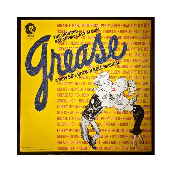Glittered Grease Broadway Album