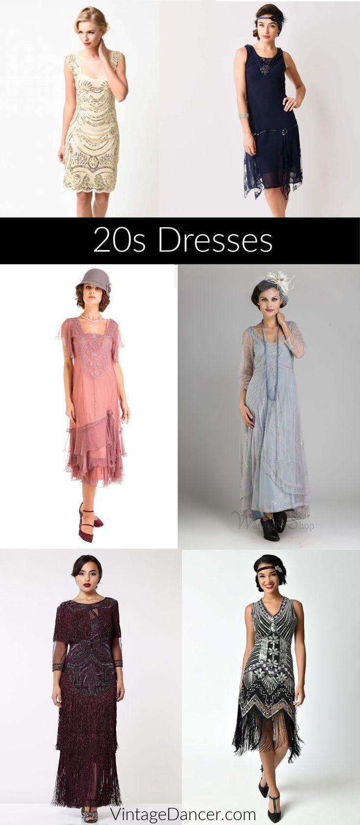 Kleider im Stil der 11er Jahre: Flapper-Kleider zu Gatsby