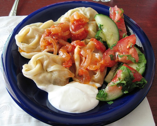Pumpkin manti. Yummy Uzbek dish I had this weekend!