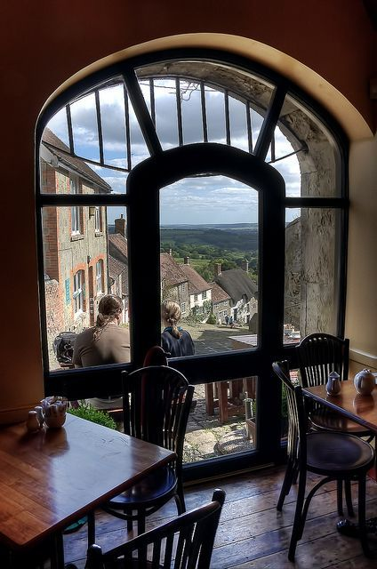 England Travel Inspiration - Hovis Tea Time by Richee Wilson, via Flickr, taken from a tea shop at the top of Gold Hill, Dorset, UK