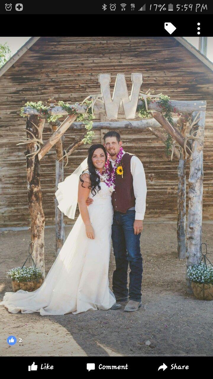 rustic wedding arch ❤