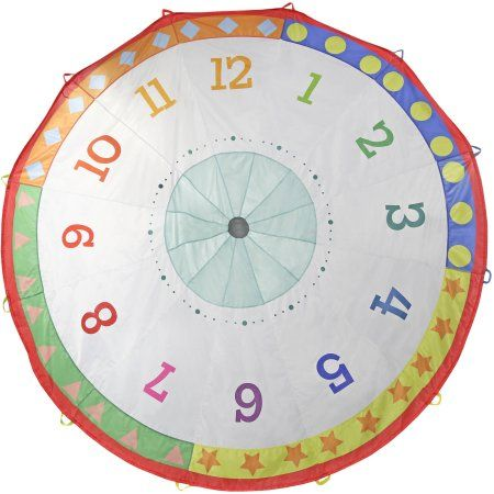 Pacific Play Tents Tick Tock Clock 12' Parachute, Multicolor