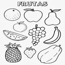 نتيجة بحث الصور عن frutas y verduras para colorear