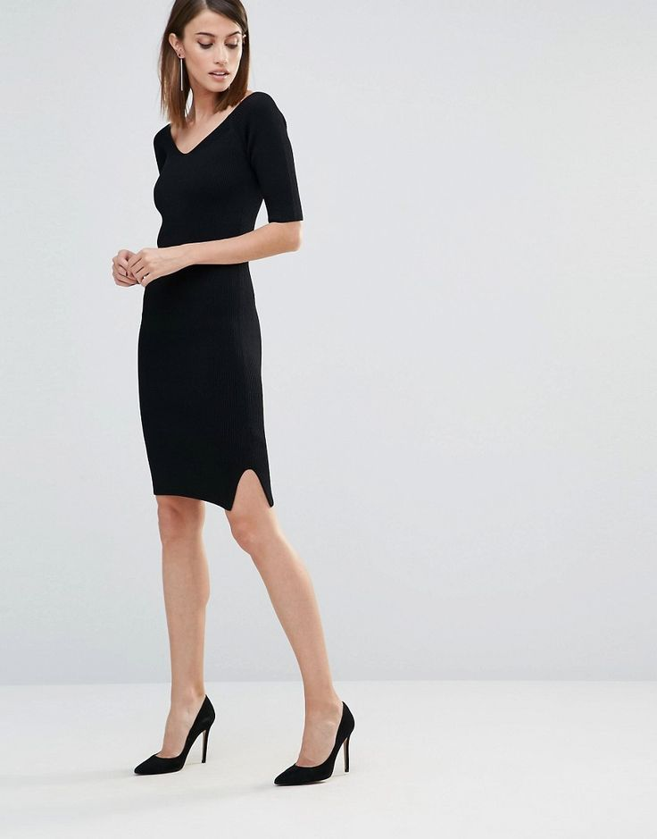 Image 4 ofWhistles Knitted Fit and Flare Bodycon Midi Dress