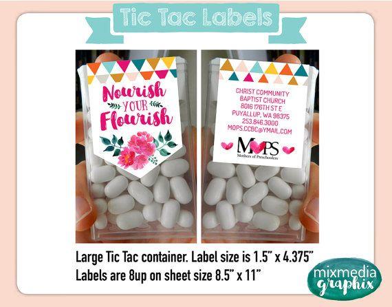 Fierce Flourishing Tic Tac Labels by MixMediaGraphix on Etsy