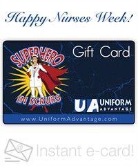 Happy Nurses Week - Electronic Gift Card (Emailed), Style #  EC016 #nursesweekgiftideas, #nationalnursesweek, #giftcards