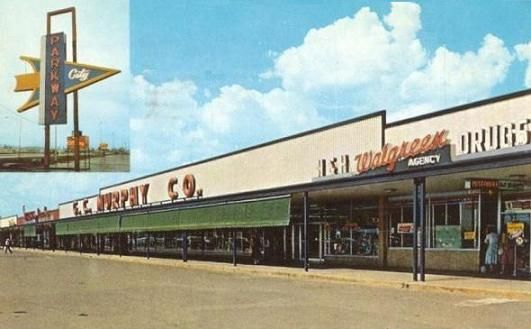 Old Photo Of Parkway City Shopping Center In Huntsville Al