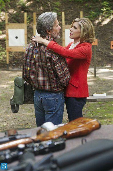 Photos - The Good Wife - Season 5 - Promotional Episode Photos - Episode 5.04 - Outside the Bubble - The Good Wife - Episode 5.04 - Outside the Bubble - Christine Baranski and Gary Cole