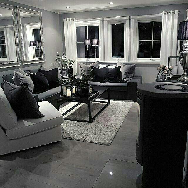 Black And Silver Living Room New Apartment Ideasdÿ Apartment Ideas Genel Ruang Tamu Rumah Dekorasi Apartemen Interior Rumah #silver #and #gray #living #room