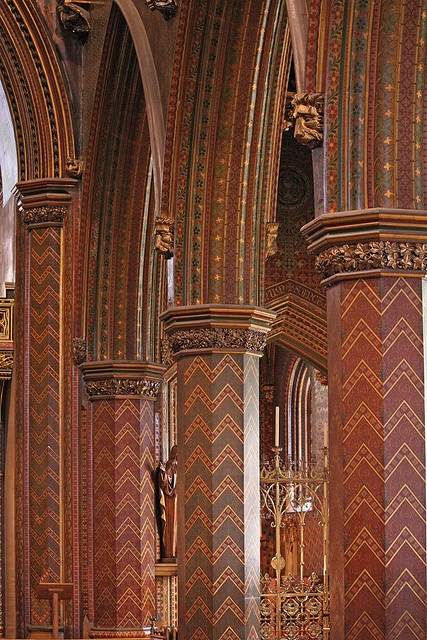 St Giles, Cheadle polychrome, A. W. N. Pugin.