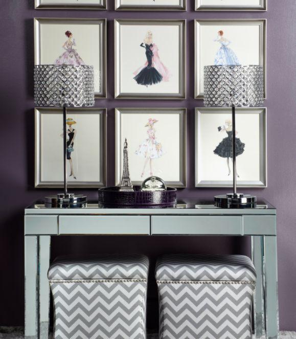 Z Gallerie   Barbie Blush Becomes Her. Mirrored DeskMirrored  FurnitureMirrored ...