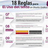 Infografía 18 Reglas para Correcto Uso del Texto en Diseño