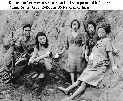 """Korean """"Comfort Women"""" - under Japanese occupation they were forced to become comfort women to Japanese troops. Comfort women of World War II remain one of the most controversial issues when dealing with Japanese war crimes, as the Japanese governments have continue to play down the severity of historical fact."""