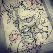 Best 25+ Japanese mask tattoo ideas on Pinterest   Hannya mask ...