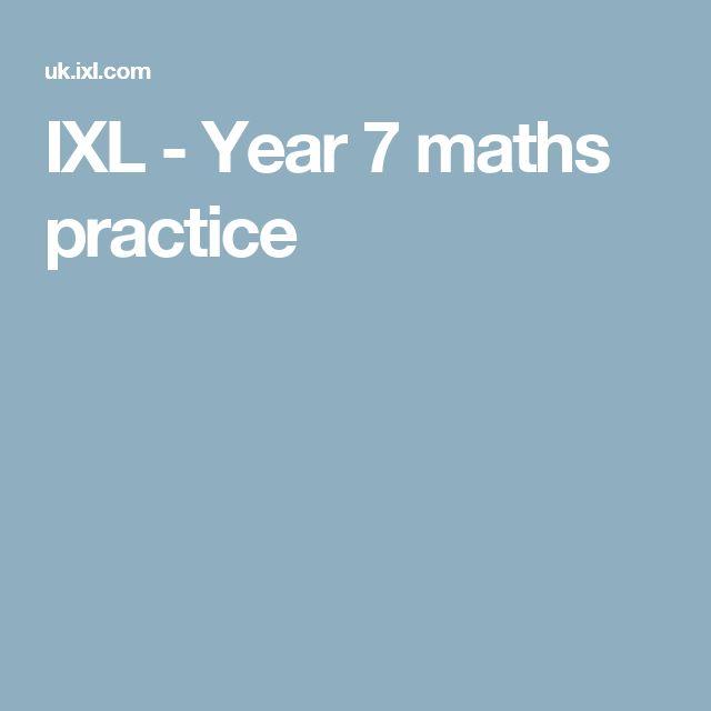 IXL - Year 7 maths practice
