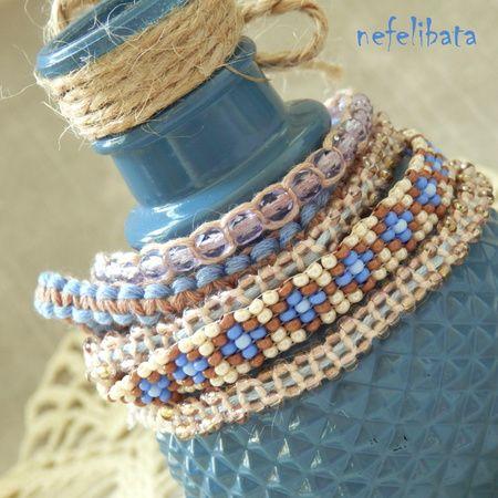 Sea smiled at me: boho chic handmade bracelet - boho - boho chic - bohemian - ethno - jewelry - jewellery - ethnic - nefelibata - free - freedom