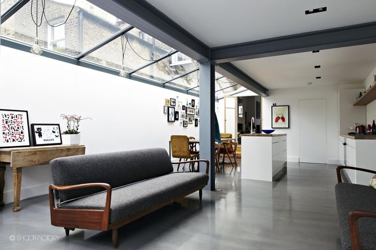 how to maximize the light love the retro furniture concrete floor exposed beams if you like the industrial look