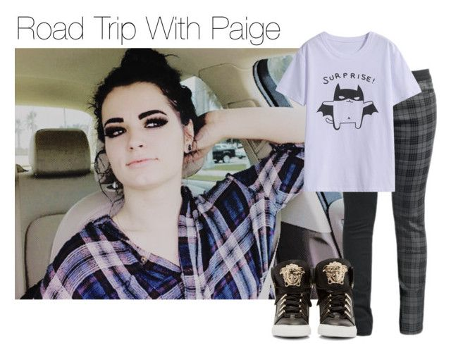 Road Trip With Paige by amysykes-697 on Polyvore featuring Versace and WWE