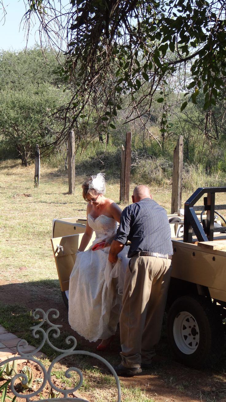 Here comes the bride....