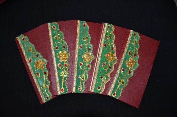 Handmade Money Holder Set Shagan Envelopes by HandmadeTraditions