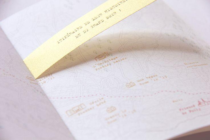 Plan illustré de Lausanne (Suisse) - Paper Map of Lausanne (Switzerland) >>> Mariage de / Wedding of S + N