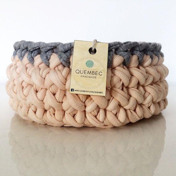 Crochet basket PASTELOVE | crochet basket | crochet bowl