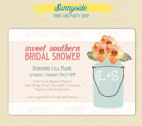 Sweet Southern Bridal Shower Invite