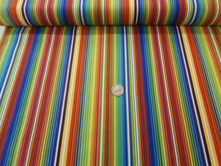 Red Roster 25018 A Rainbow of Color Wonderful Striped Print   eBay