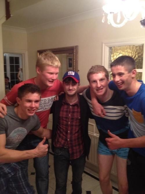Harry Potter himself was wandering the streets of Dublin, Ireland at 4 AM when Dublin's minor Gaelic Football team — who were celebrating winning the All Ireland title — saw him and invited him to their house party. Daniel accepted and partied with them for two hours.