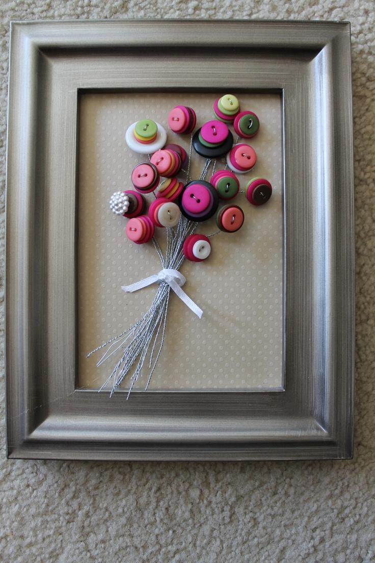 Button Art Museum .com - Beautiful Button Flower Tots - Made to order.. $25.00, via Etsy.