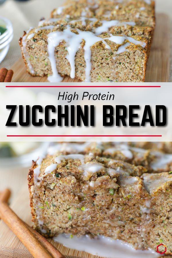 cinnamon sugar protein zucchini bread in 2020  zucchini