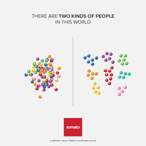 There Are Two Kinds Of People - Zomato