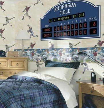Buy Your Personalized Baseball Scoreboard Peel And Stick Wall Mural Here Turn Little Boys Room Into An Exciting Stadium With This