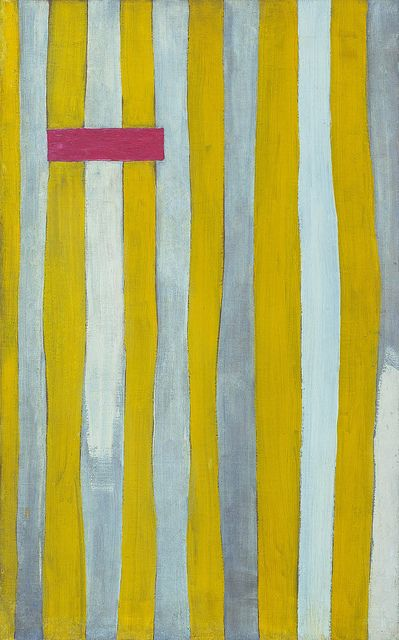 Robert Motherwell, The Little Spanish Prison, 27.25 x 17.125 in., oil on canvas, 1941-44