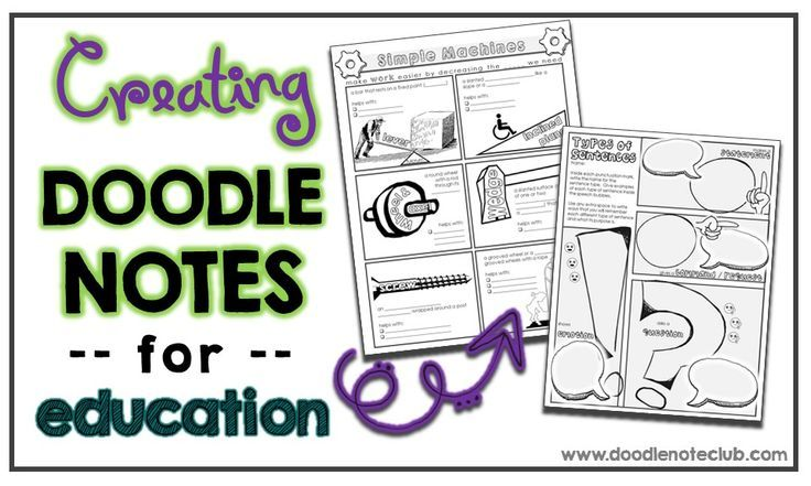 How to make your own doodle notes for teaching your own lessons