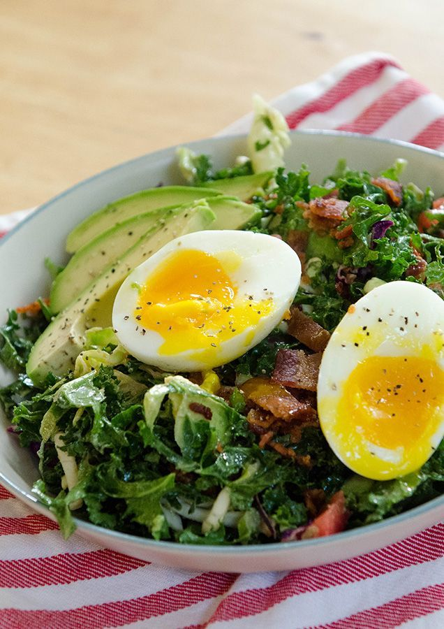 "BLT Breakfast Salad With Soft Boiled Eggs & Avocado | I've never been a breakfast traditionalist. It's not that I am opposed to breakfast food at all. In fact, I love it. I just don't let ""breakfast rules"" limit where the morning is allowed to go. I do promise, when ever you decide to eat this, this thing would make a bang-up brunch/ lunch/ or dinner. @SoLetsHangOut"