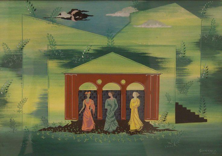 (Κωνσταντινούπολη 1902-Αθήνα 1991) Σπούδασε στην Κωνσταντινούπολη ζωγραφική και μικρογραφία με δάσκαλο τον Λ. Πράσινο. Στη συνέχεια σπούδασε διακοσμητική στην École des Arts Décoratifs και στις Ακα…