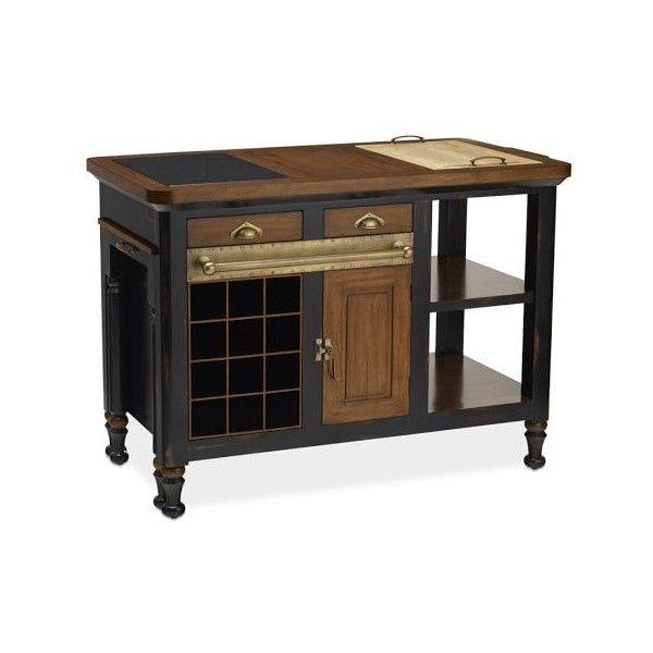 Williams-Sonoma Bastille Kitchen Island ($4,500) ❤ liked on Polyvore featuring home, furniture, storage & shelves, sideboards, williams sonoma home furniture, home storage furniture, handcrafted furniture, inlaid furniture and williams sonoma furniture