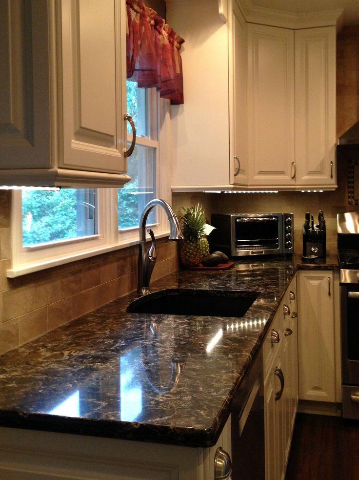 White Millbrook kitchen with laneshaw quartz countertops ...