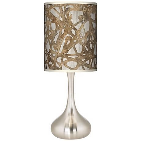Organic Nest Giclee Kiss Table Lamp