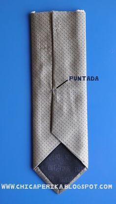 Tutorial de C�mo hacer una corbata para ni�o a partir de la de un adulto