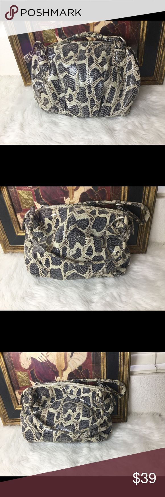 B Makowsky Animal Print Leather Handbag. B Makowsky Animal Print Leather Handbag.  Measures 15x10. In great shape! B Makowsky Bags Shoulder Bags