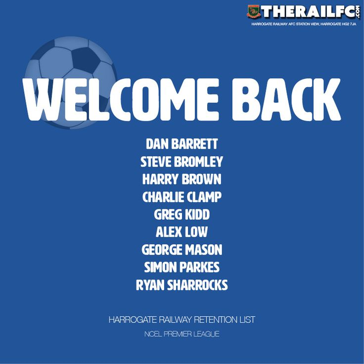 We're pleased to announce the following players are returning to Station View this season.    @therailfc #NCEL #Harrogate